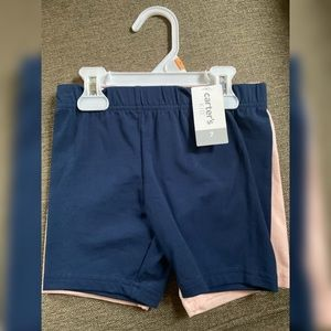 NWT Carter's Girl's 2 pack bike shorts Sz 7
